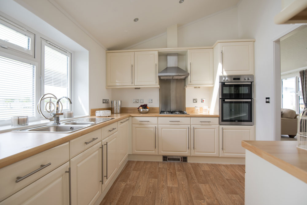 stunning kitchen in a park home for sale in kent