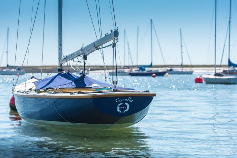 The boatyard in Burnham on Crouch Essex